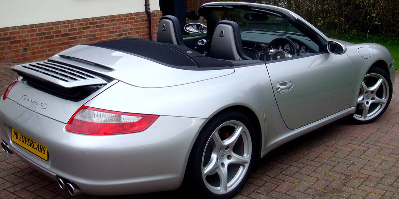Porsche 997 back with top down